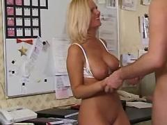 Hot titty secretary fucks in office