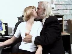 Blonde secretary fucking in office