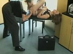 Seducer secretary fucking on chair