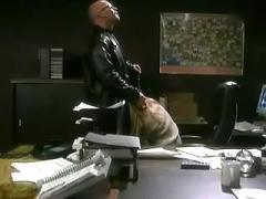 Boss fucking hot secretary on table