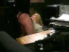 Sexy secretary get assfuck on table
