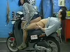 Manager pounds secretary on a bike