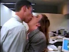 Sexy secretary sucks cock in office
