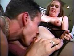 Horny secretary crazy dance on dick