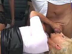 Sexy office sluts fucked after work
