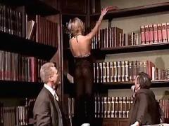 Two bosses share blonde office girl