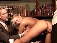 Secretary gets cumload from bosses