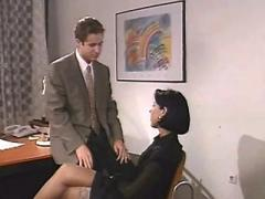 Horny office girl sucks bosses cock