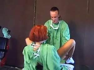 Doctor hard fucks horny redhead nurse in hospital