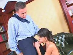 Boss hard fucks beautiful secretary in doggy style