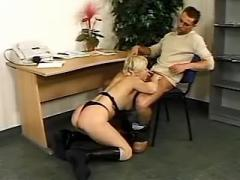 Horny boss fucks hot lustful secretary in office
