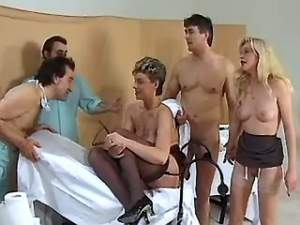 Lusty nurses and doctors make wild sex in hospital