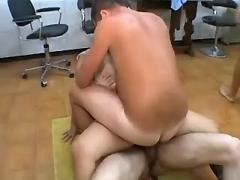 Hot secretary gets numerous cumload from bosses