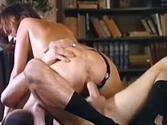 Mature secretary gets cum in mouth after assfuck