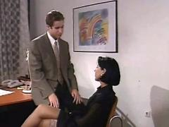 Hot secretary sucks cock in office after work