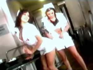 Lusty nurses suck cock of patient in hospital